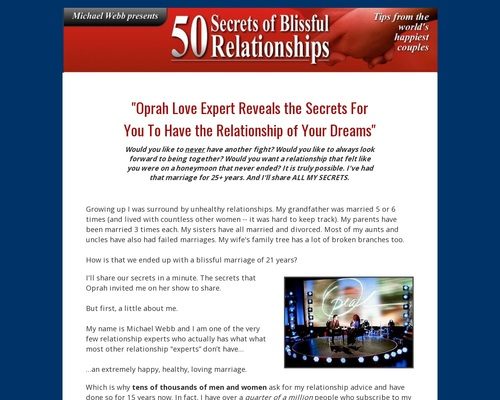 50 Secrets Of Blissful Relationships – Guide  for Happiness and Success in Relationship