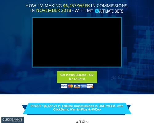 Affiliate Bots V2.01 – Get 37 Automated Bots and 7/Day In Commissions!