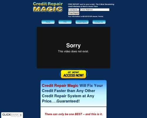 Credit Repair Magic –  Fix Your Credit Fast!