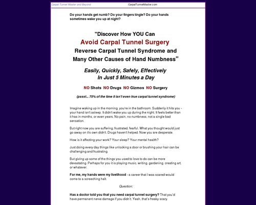 Carpal Tunnel Master – Get Your Hands Back To Normal