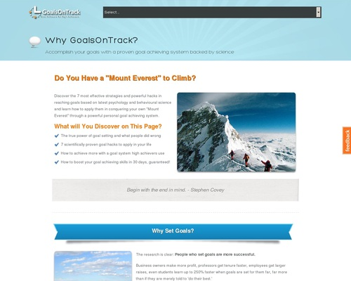 Goal Setting Software For High Achievers
