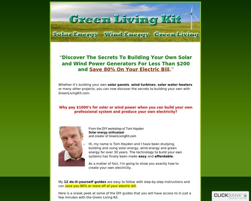 Green Living Kit – Build Your Own Solar and Wind Power Generators