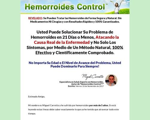 Hemorroides Control