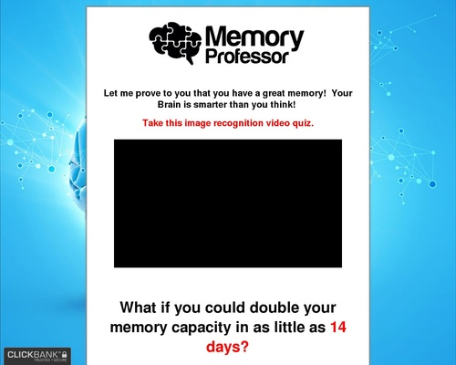 The Memory Professor System – Incredible Memory Improvement in 30 Days!