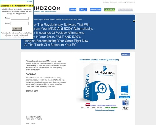 Self Help Using Subliminal Messages – MindZoom –