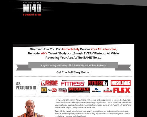 MI40 Foundation – Double Your Muscle Gains