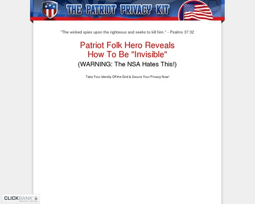 The Patriot Privacy Kit: Best Selling Survival Privacy Product!
