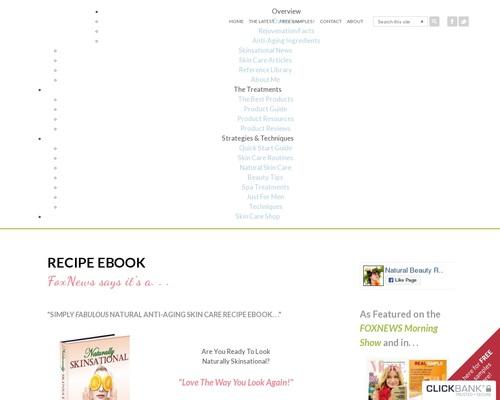 Recipe eBook – Natural Anti-Aging Skin Care
